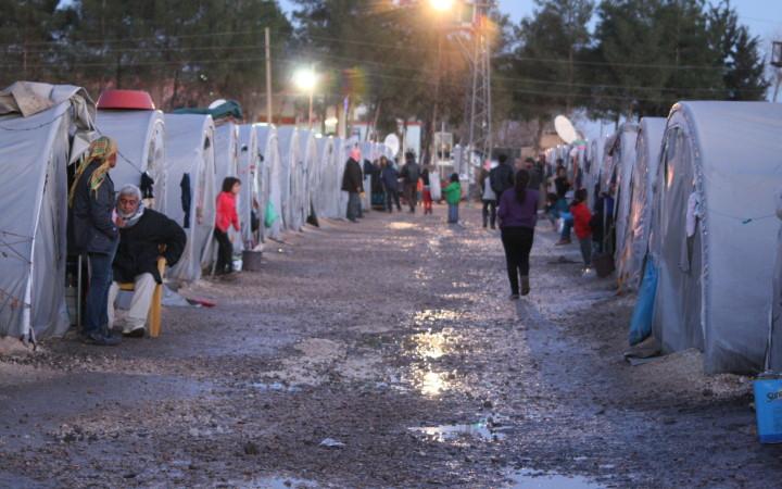 Flüchtlingscamp Arîn Mirxan bei Suruç.