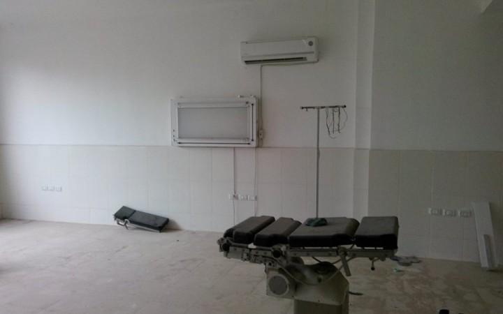 Auch das Wiener Spital von Ezzat Afandi ist zerstört.